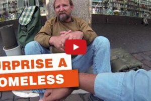 homeless man video