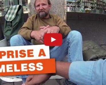 homeless man video