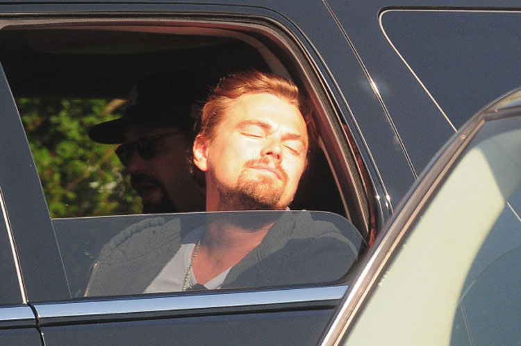 Leonardo DiCaprio Sunbathing