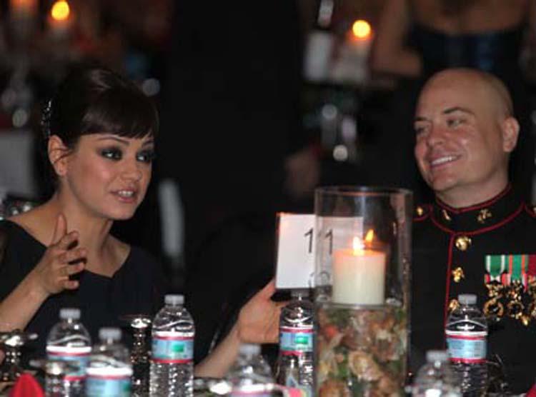 Mila Kunis dinner with marine
