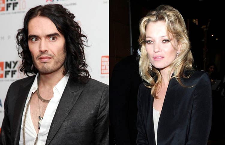 Kate Moss and Russell Brand