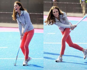 Kate Middleton playing hockey