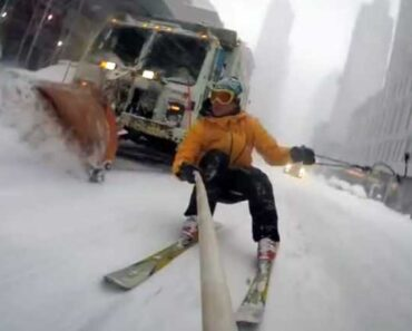 video snowboarding in new york