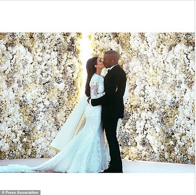 Screen grab taken from the Instagram feed of Kim Kardashian whose post from her wedding to rapper Kanye West has been the most popular picture on Instagram in 2014 (@kimkardashian/Instagram/PA)